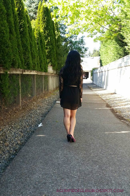 OOTD LBD with Lace Sleeves Banggood - Andrea Tiffany aglimpseofglam
