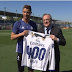 Real Madrid President Presents Cristiano Ronaldo With A Shirt For His 400 Goals With Club (Photos)