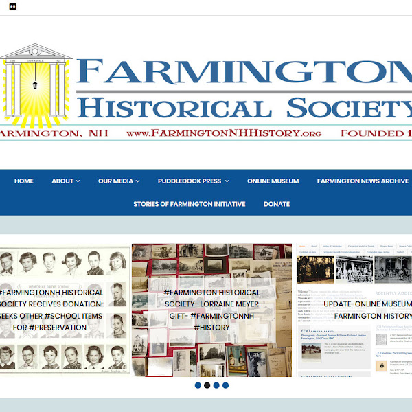 Upgrade To The #FarmingtonNH #Historical Society Website #Design