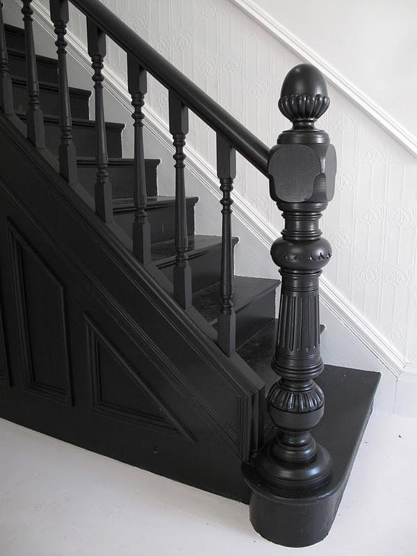 47 Park Avenue: Black painted staircase...