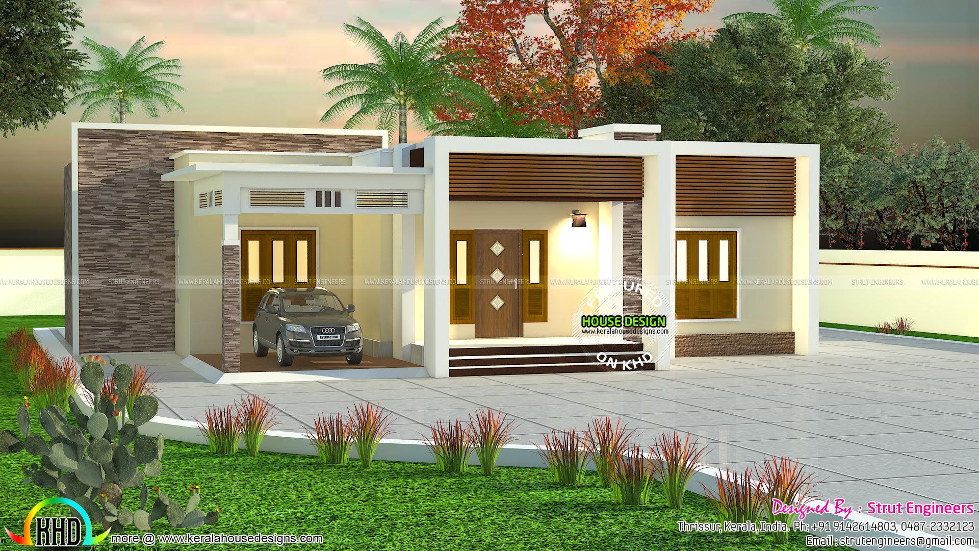 900 Sq Ft 2 Bhk Flat Roof House Kerala Home Design