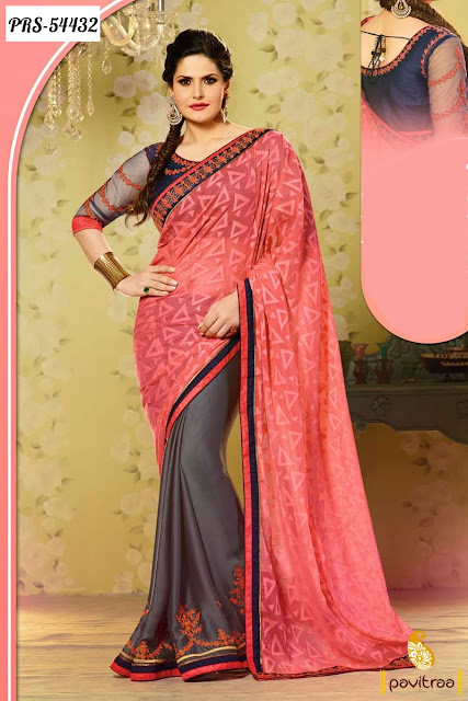 Indian bollywood actress hate story 3 Zarine Khan sarees online shopping with discount sale