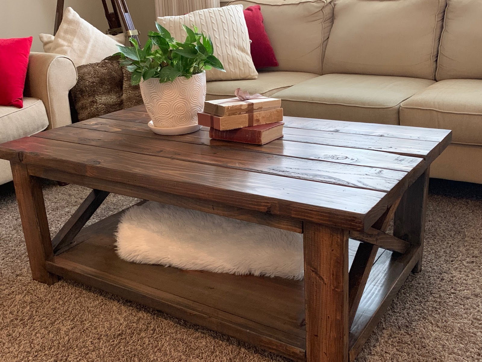 Red Hen Home Rustic X Coffee Table Take 2