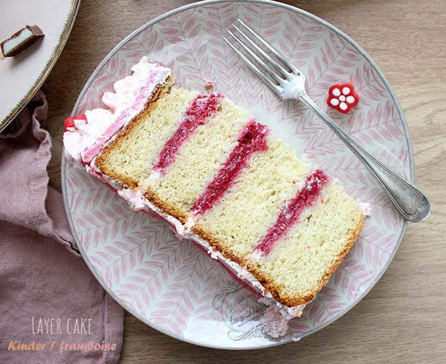 layer cake framboise