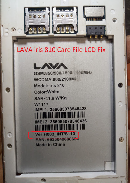 Lava iris810 Firmware Care File Download