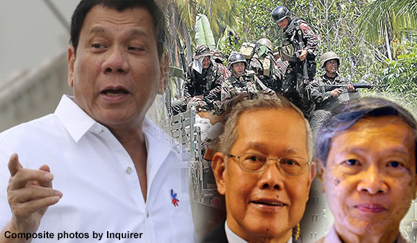 Retired SC Justice and UP Law professor defends Duterte's declation of martial law