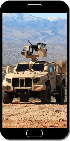Véhicule Tactique Oshkosh L-ATV A Blindé  - Fond d'Écran en QHD pour Mobile