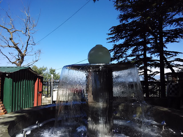 fountain near ridge