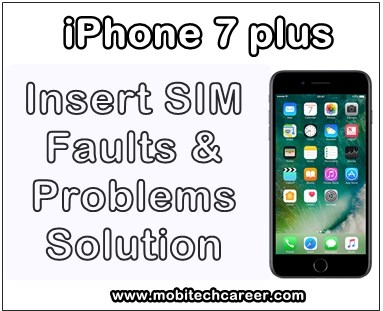 mobile, cell phone, iPhone smartphone, how to, fix, solve, repair, Apple iPhone 7 Plus, sim, not working, insert sim, faults, problems, sim ic, sim track, jumper ways, solution, kaise kare, guide, tips in hindi