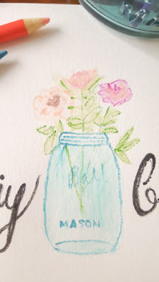 Pretty office organizing and dabbling in watercolors | diy beautify