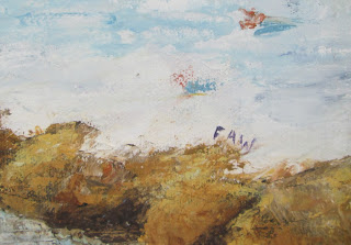 snow farm painting by faw signed