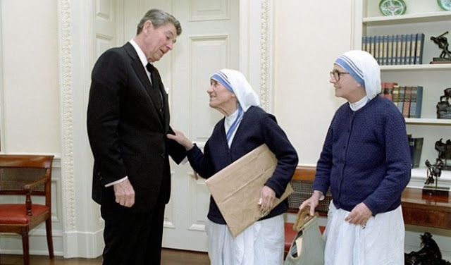 Mother Teresa and Roland Reagan