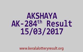 AKSHAYA Lottery AK 284 Results 15-3-2017