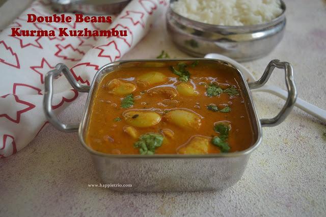 Double Beans Kurma Kuzhambu | Double Beans Kuzhambu