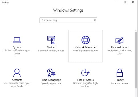 Windows 10 Anniversary Update Settings