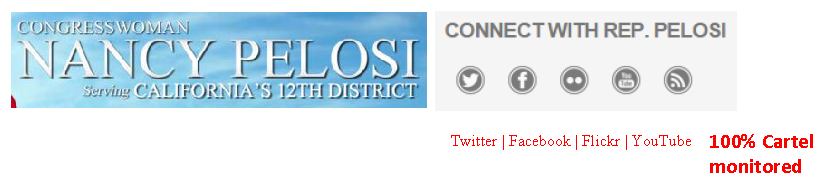 Rep. Nancy Pelosi, House.gov home page