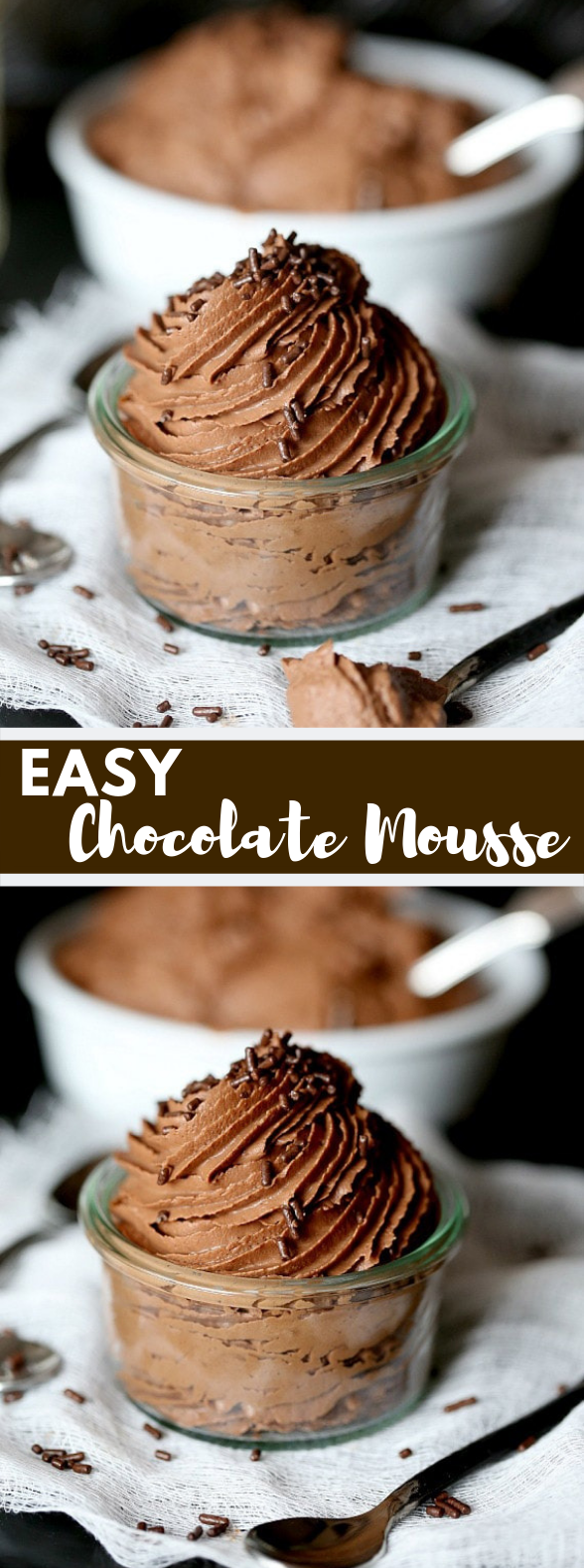 Easy Chocolate Mousse #Dessert #Cakes