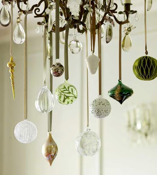It S Easy To Dress Up Your Chandelier For The Christmas Holidays Even If You Don T Have A Can Make One Out Of Ornaments