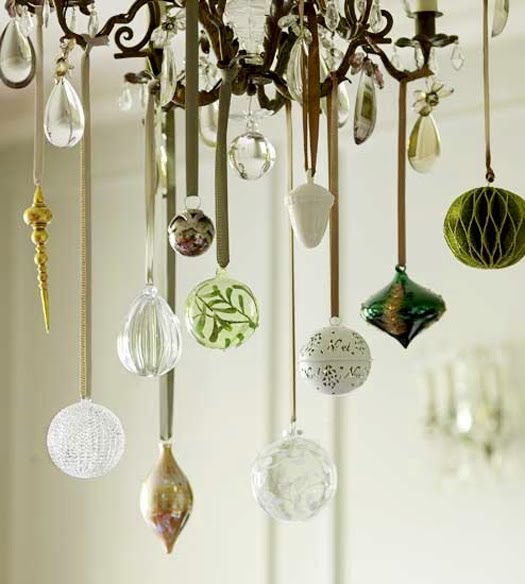 DIY Ornament Chandelier! Happy Wednesday Friends! Today I am continuing our countdown to Christmas Eve with one of my most popular holiday decorations, a simple DIY ornament chandelier.