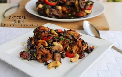 CHICKEN DUM tasty chicken spicy chicken and mushroom recipes party chicken recipe chicken dishes recipes yummy malabar dishes recipes