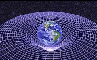 Gráfico representativo de la alteración que una masa como la Tierra produce en el espacio-tiempo.