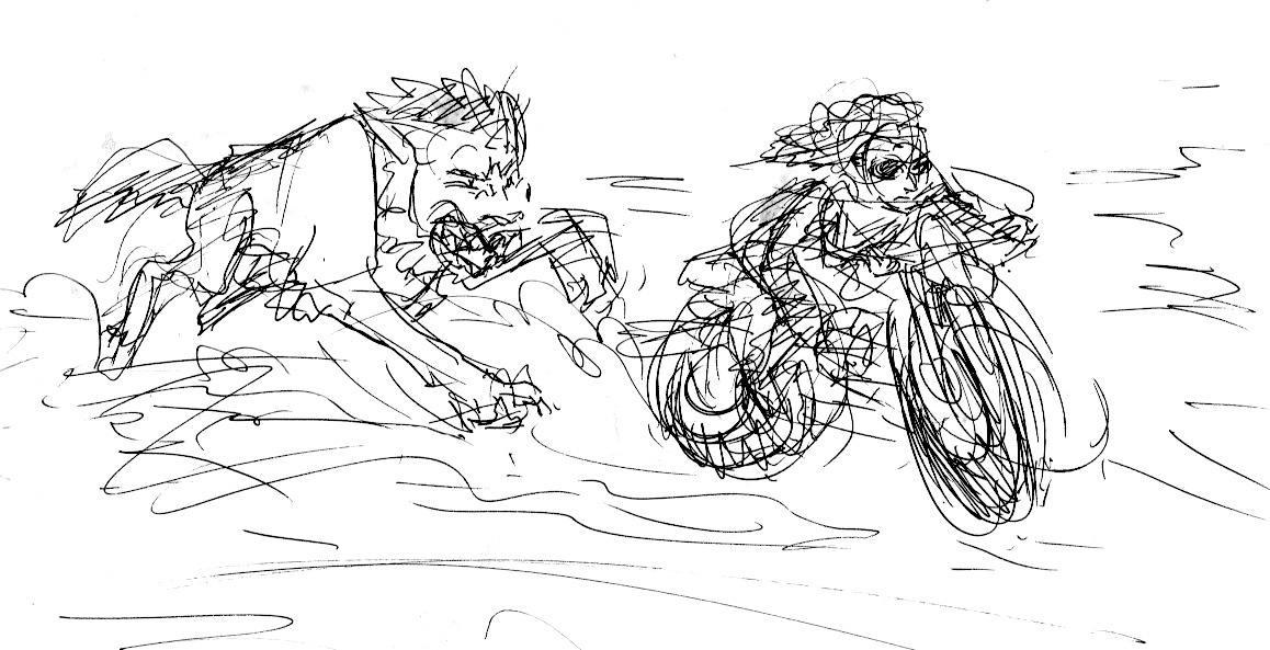 Rozlynn Waltz's Visual-Narrative Musings: Iron Fang Sketches