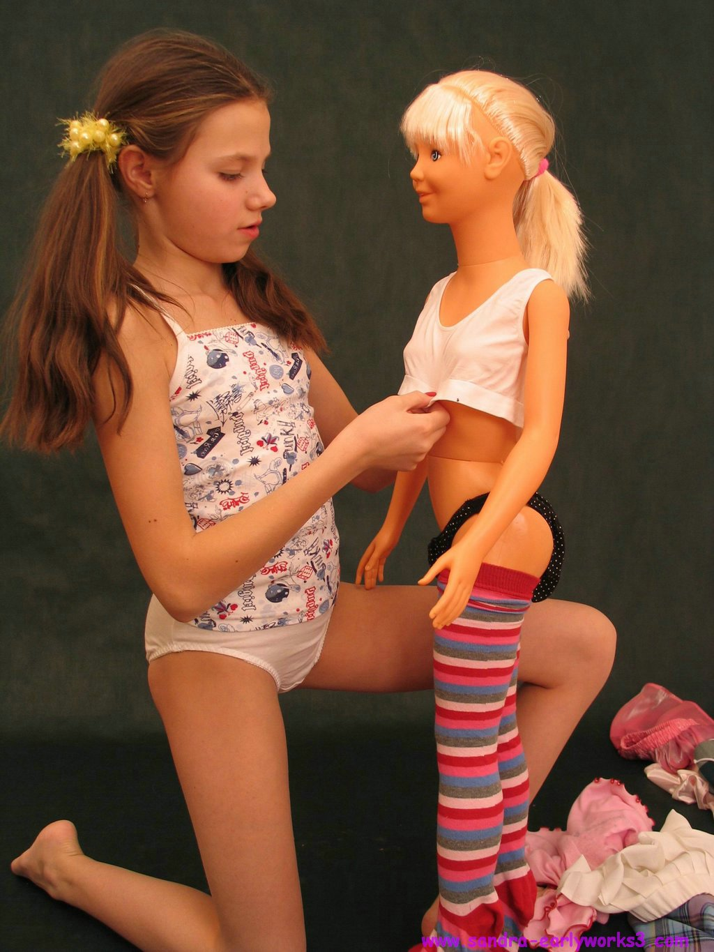 young clothed unclothed spread pussy