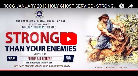 RCCG Holy Ghost Service January 2018