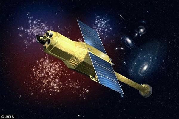 La agencia espacial japonesa JAXA perdió contacto con su satélite 'Hitomi' (ilustración) el 26 de marzo. Se cree que fue destrozado luego de una maniobra planificada de antemano que salió mal.