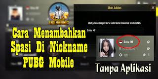 Cara Menambahkan Spasi Di Nickname PUBG Mobile