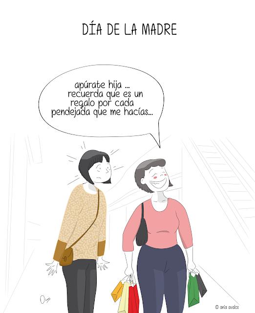 ania avalos @ania7ac diseño grafico ilustracion dia de la madre mother´s day