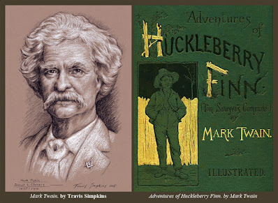 Mark Twain. Freemason. by Travis Simpkins. Adventures of Huckleberry Finn
