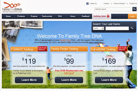 Family Tree DNA Sale Prices--NGS Family History Conference Registrations Opens 1 Dec--Mocavo Attempting to Develop Handwriting Recognition Software