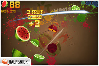 Fruit Ninja IPhone Game Fruits Slashing By Fingers 3