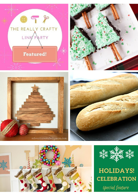 The Really Crafty Link Party & Holidays Celebration features