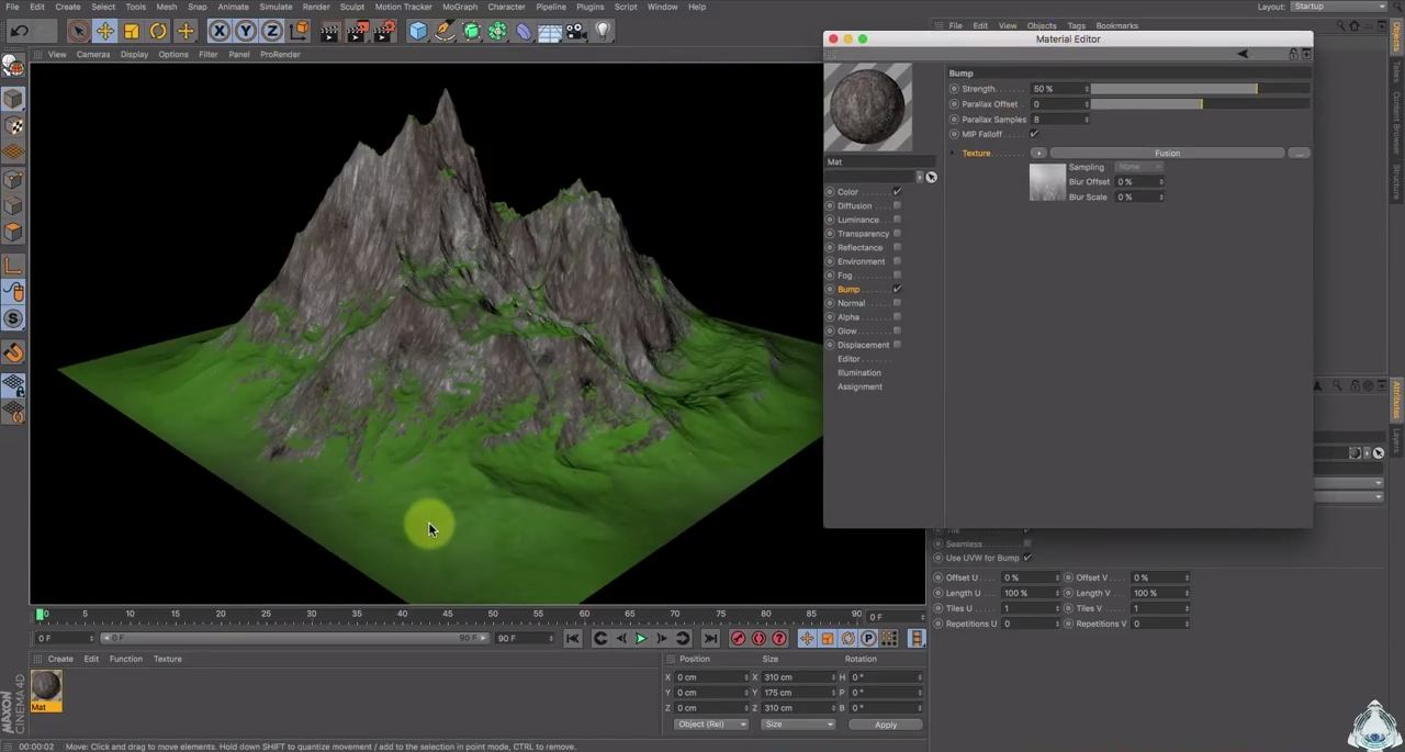 Create a Mountain in 4 steps in Cinema 4D | CG TUTORIAL