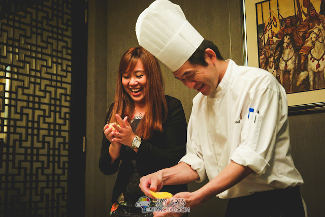 Having fun making mooncakes @ Intercontinental Kuala Lumpur