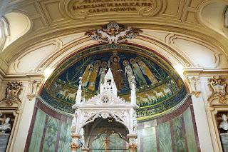 Sta Cecilia trastevere baldaquino - Santa Cecilia em Trastevere