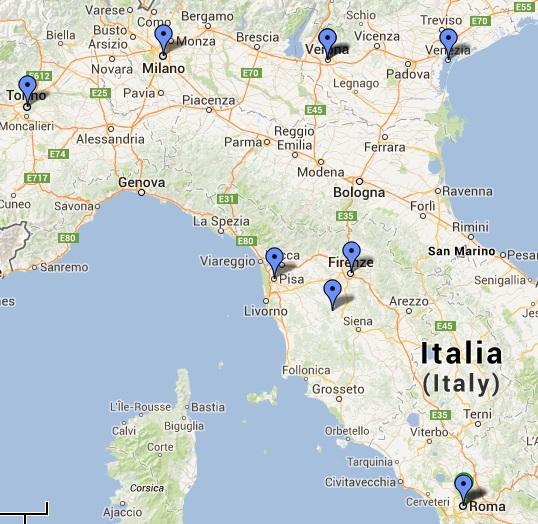 Sugestão de Roteiros: Sugestão de roteiro na Itália