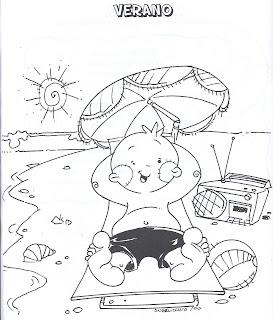 Juani Maestra Infantil Dibujos Para Colorear El Verano Y La