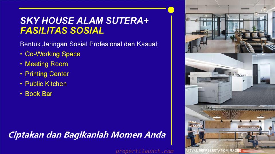 Fasilitas Sosial Sky House Alam Sutera
