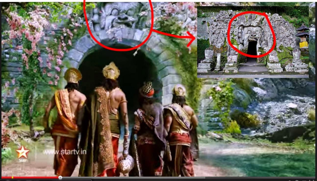 Goa gajah Bali di istana ilusi indraprasta Mahabharata eps 140