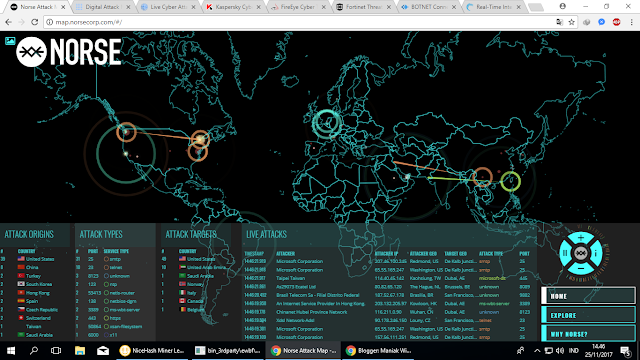 8 Website Live Cyber Attack Threat Real-Time Map