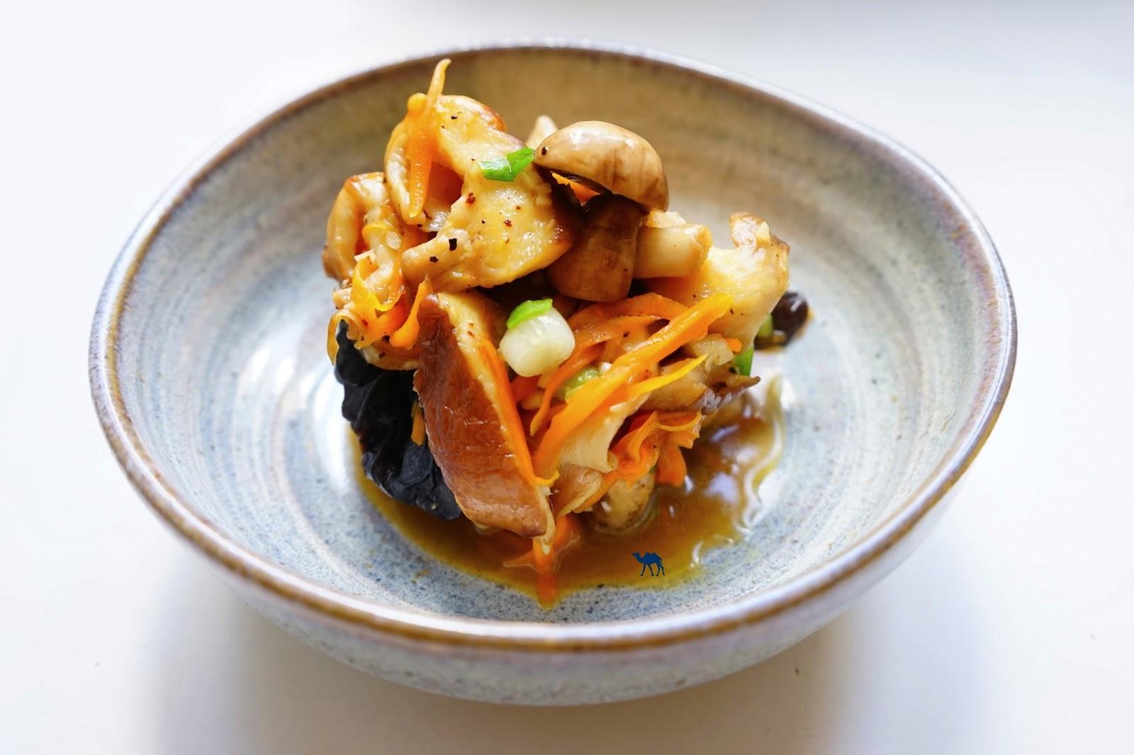 Le Chameau Bleu - Poêlée de champignon à la japonaise