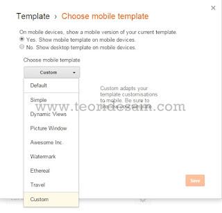 Setting tampilan mobile Colorindo Blogger Template Profesional