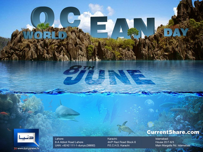 World Ocean Day Current Share - List of all the oceans in the world