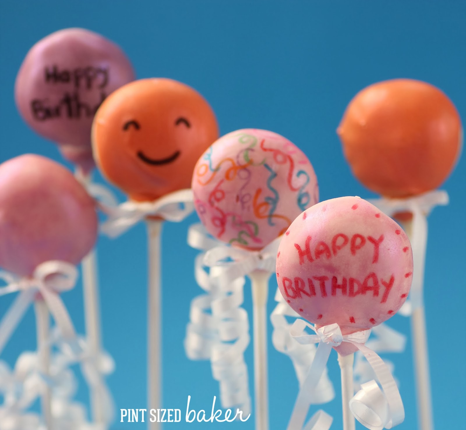 Happy Birthday Balloon Cake Pops   Pint Sized Baker