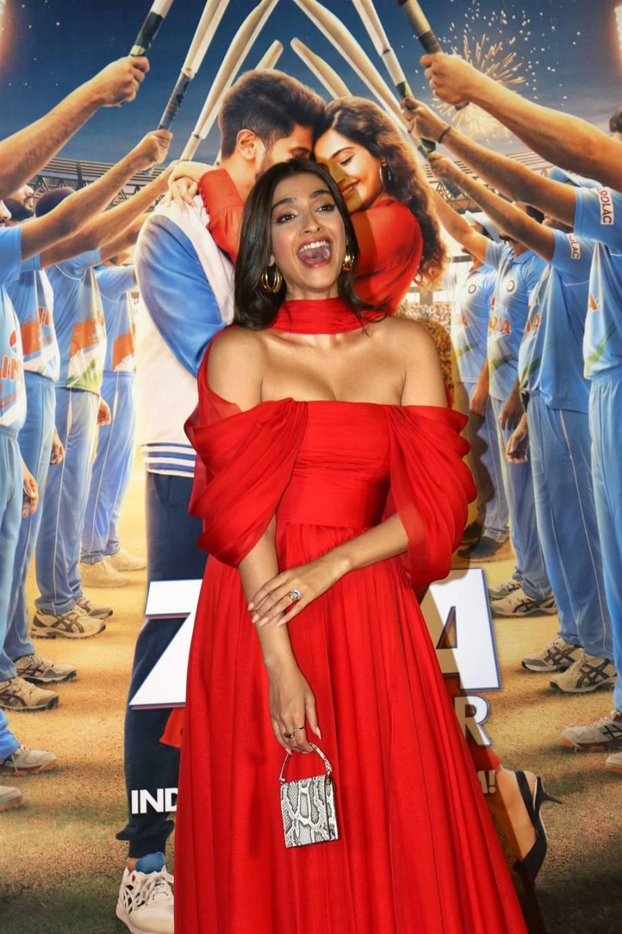 Actress Sonam Kapoor Ahuja At New Movie Trailer Launch Function
