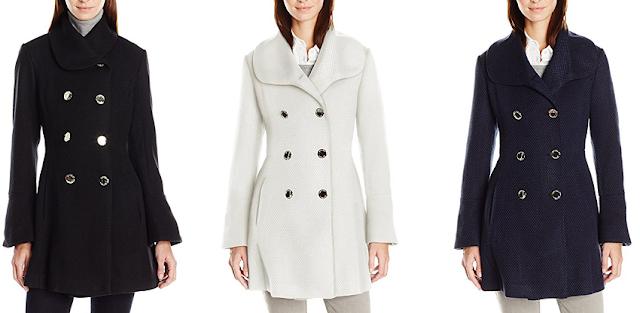 Jessica Simpson Basketweave Wool Coat $100 (reg $275)