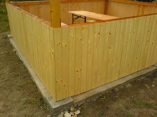 construire pavilion, imbracarea foisorului cu lambriuri din lemn, tamplarie, constructii, zidarie,
